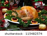 Christmas Decorated Table With...