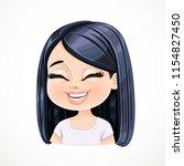 beautiful happy cartoon... | Shutterstock .eps vector #1154827450