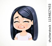 beautiful inconsolably crying... | Shutterstock .eps vector #1154827453