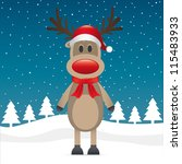 Rudolph Reindeer Red Nose And...