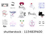 vector set beauty logo  woman's ... | Shutterstock .eps vector #1154839600