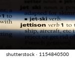 Small photo of jettison word in a dictionary. jettison concept.