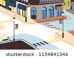cityscape with street... | Shutterstock .eps vector #1154841346