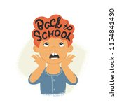 back to school inscription on... | Shutterstock .eps vector #1154841430