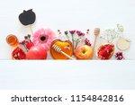 rosh hashanah  jewish new year... | Shutterstock . vector #1154842816