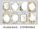 floral frame design. wedding... | Shutterstock .eps vector #1154843863