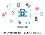 medicine concept . idea of... | Shutterstock .eps vector #1154845780