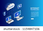 cloud technology computing... | Shutterstock .eps vector #1154847106