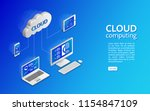 cloud technology computing... | Shutterstock .eps vector #1154847109