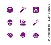 9 teeth icons in vector set.... | Shutterstock .eps vector #1154848039