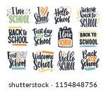 bundle of back to school... | Shutterstock .eps vector #1154848756