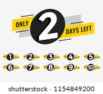 promotional banner with number... | Shutterstock .eps vector #1154849200