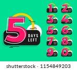 number of days left design in... | Shutterstock .eps vector #1154849203