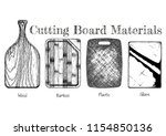 cutting board from various... | Shutterstock .eps vector #1154850136