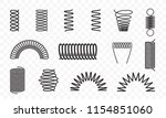 spiral springs different shapes ... | Shutterstock .eps vector #1154851060