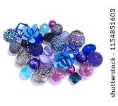 an exotic mix of blue    purple ... | Shutterstock . vector #1154851603