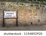 Penny Lane street at Liverpool - Beatles sight site