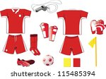 a vector illustration of soccer ... | Shutterstock .eps vector #115485394