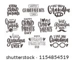 set of grandparents day... | Shutterstock .eps vector #1154854519