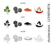 ptrushka  black pepper  paprika ...   Shutterstock .eps vector #1154854876