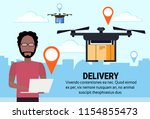 operator drone flying geo tag...   Shutterstock .eps vector #1154855473