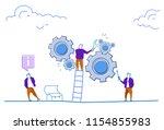 businessman climb ladder... | Shutterstock .eps vector #1154855983