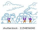 businessmen making movie... | Shutterstock .eps vector #1154856040