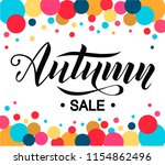 autumn sale lettering text on... | Shutterstock .eps vector #1154862496