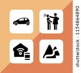 road icon. 4 road set with hit  ...   Shutterstock .eps vector #1154864890