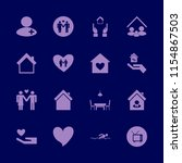 family vector icons set. with... | Shutterstock .eps vector #1154867503