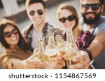 young happy people have fun... | Shutterstock . vector #1154867569