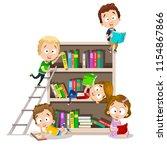 Vector Illustration Of School...