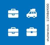 baggage icon. 4 baggage set... | Shutterstock .eps vector #1154869000