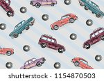 hand drawn colorful vintage...   Shutterstock .eps vector #1154870503