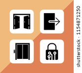 entrance icon. 4 entrance set... | Shutterstock .eps vector #1154871250