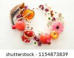 rosh hashanah  jewish new year... | Shutterstock . vector #1154873839