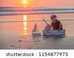 cute baby child  sweet boy ...   Shutterstock . vector #1154877973