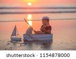 cute baby child  sweet boy ...   Shutterstock . vector #1154878000