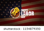 labor day usa text vector label ...   Shutterstock .eps vector #1154879350