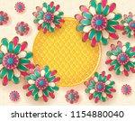 flower vector background | Shutterstock .eps vector #1154880040