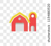barn vector icon isolated on... | Shutterstock .eps vector #1154883520