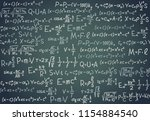 black board with scientific... | Shutterstock .eps vector #1154884540