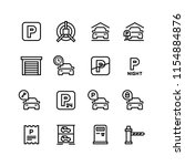 parking icons. car garage and... | Shutterstock .eps vector #1154884876