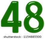 numeral 48  forty eight ... | Shutterstock . vector #1154885500