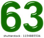 numeral 63  sixty three ... | Shutterstock . vector #1154885536