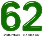 numeral 62  sixty two  isolated ... | Shutterstock . vector #1154885539