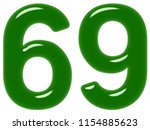 numeral 69  sixty nine ... | Shutterstock . vector #1154885623
