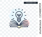 knowledge vector icon isolated...   Shutterstock .eps vector #1154885959