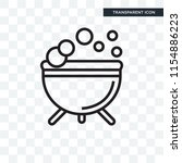 cauldron vector icon isolated... | Shutterstock .eps vector #1154886223