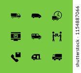 delivering icon. 9 delivering... | Shutterstock .eps vector #1154887066